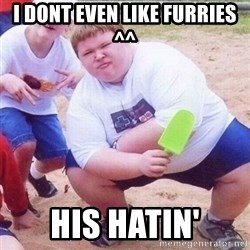 they see me rollin - i dont even like furries ^^ his hatin'