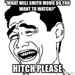 """Yao Ming - """"What Will Smith movie do you want to watch?"""" Hitch please"""