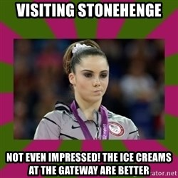 Kayla Maroney - Visiting Stonehenge Not even impressed! The ice creams at the gateway are better