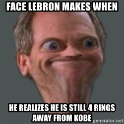 Housella ei suju - Face Lebron makes when he realizes he is still 4 rings away from Kobe