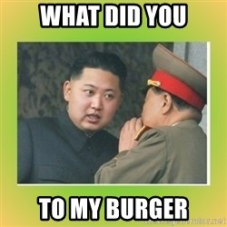 kim joung - WHAT DID YOU TO MY BURGER
