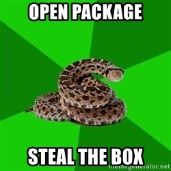 Stupid Shrink Snake - Open Package steal the Box