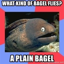Bad Joke Eels - what kind of bagel flies? a plain bagel