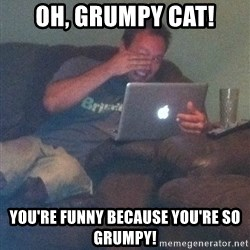 Meme Dad - Oh, Grumpy Cat! You're funny because you're so grumpy!