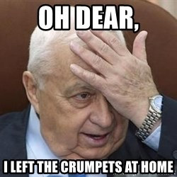 Forgetful Prime Minister - Oh dear, I left the crumpets at home