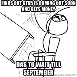 Desk Flip Rage Guy - finds out GTA5 is coming out soon and gets money has to wait till september