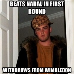 Scumbag Steve - beats nadal in first round withdraws from wimbledon