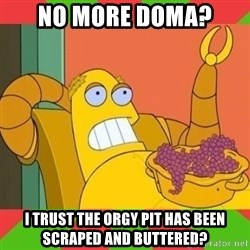 Hedonism Bot - No more doma? I trust the orgy pit has been scraped and buttered?