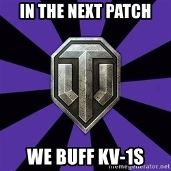 World of Tanks - In the next patch we buff KV-1S