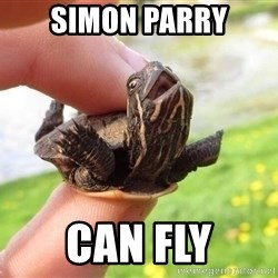 excited turtle - Simon Parry can fly