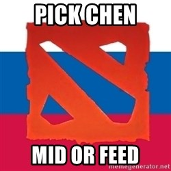 Dota2 Russian - pick chen mid or feed