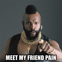 Mr T Fool -  meet my friend pain