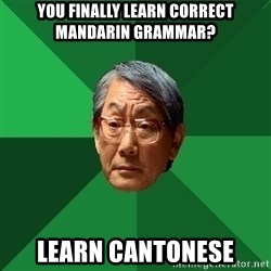 High Expectations Asian Father - you finally learn correct mandarin grammar? learn cantonese