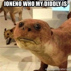 Sad Otter - IONENO WHO MY DIDDLY IS