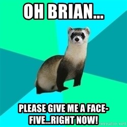 Obvious Question Ferret - Oh Brian... Please give me a face-five...RIGHT NOW!