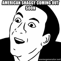 nicholas cage you dont say - American Shaggy coming out soon