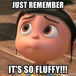 despicable me sorry - Just remember IT'S SO FLUFFY!!!