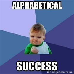 Success Kid - alphabetical  success