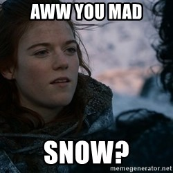 Ygritte knows more than you - AWW You mad Snow?