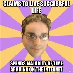 Who Dat Pat - CLAIMS TO LIVE SUCCESSFUL LIFE SPENDS MAJORITY OF TIME ARGUING ON THE INTERNET