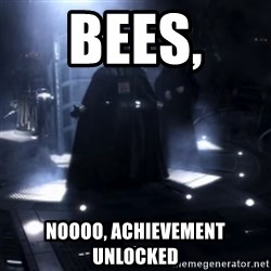 Darth Vader - Nooooooo - bees,  noooo, achievement unlocked