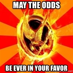 Typical fan of the hunger games - MAY THE ODDS BE EVER IN YOUR FAVOR