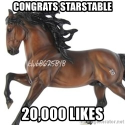 Typical horse model collector - CONGRATS STARSTABLE 20,000 LIKES