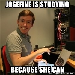 Ridiculously Photogenic Journalist - Josefine is studying because she can