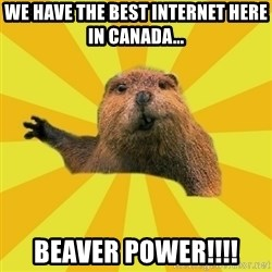 grumpy beaver - We have the best internet here in Canada... BEAVER POWER!!!!