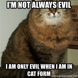 ZOE GREAVES DTES VANCOUVER - I'M NOT ALWAYS EVIL  I AM ONLY EVIL WHEN I AM IN CAT FORM