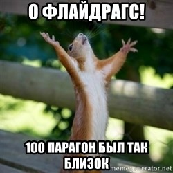 Praising Squirrel - О Флайдрагс! 100 парагон был так близок