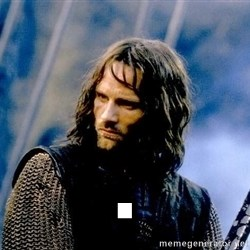 Not this day Aragorn -   .