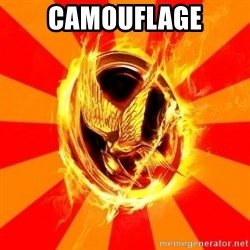 Typical fan of the hunger games - CAMOUFLAGE