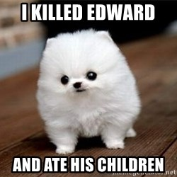 more meat for my duck - I killed edward   and ate his children