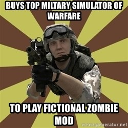 Arma 2 soldier - Buys top miltary simulator of warfare to play fictional zombie mod