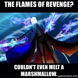 UMVC3 Vergil - The Flames of revenge? Couldn't even melt a marshmallow.