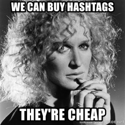 Latte Lies - we can buy hashtags they're cheap