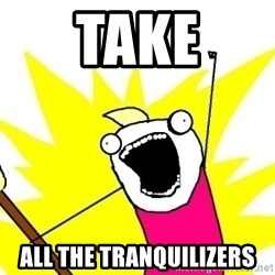 X ALL THE THINGS - take all the tranquilizers