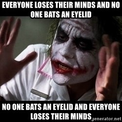 joker mind loss - everyone loses their minds and no one bats an eyelid no one bats an eyelid and everyone loses their minds