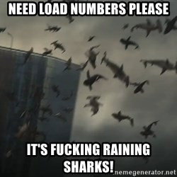 sharknado - NEED LOAD NUMBERS PLEASE It's fucking raining sharks!