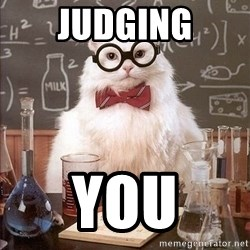 Chemistry Cat - JUDGING YOU