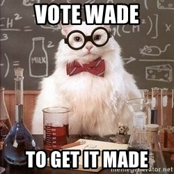 Chemistry Cat - Vote Wade To get it made