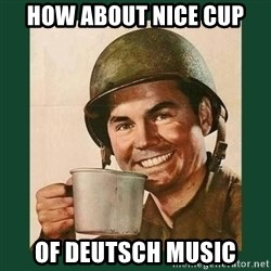 deceptively friendly vet - How about nice cup of deutsch music