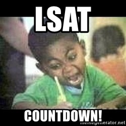 Black kid coloring - lsat  countdown!