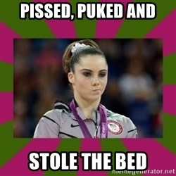 Kayla Maroney - Pissed, puked and Stole the bed