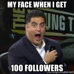 Surprised Cenk - MY FACE WHEN I GET 100 FOLLOWERS