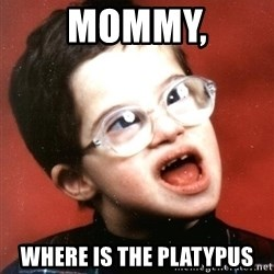 Retard Boy - Mommy, Where is the platypus