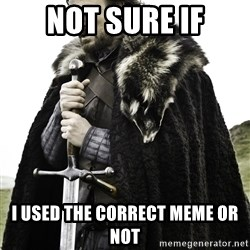 Brace Yourself Meme - Not sure if I used the correct meme or not