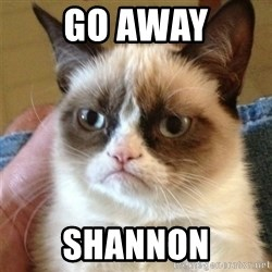 Grumpy Cat  - go away shannon