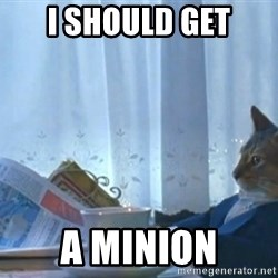 newspaper cat realization - I should get a minion